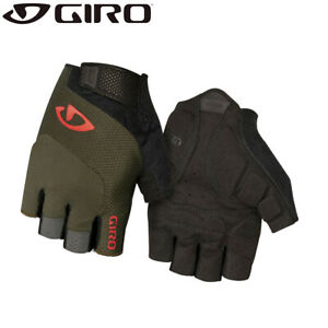 Giro Bravo Gel Gloves - Olive Green / Orange