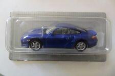 DE AGOSTINI 1:43 AUTO DIE CAST PORSCHE 911 TURBO 2000 BLU BLUE BLISTER  ART 001