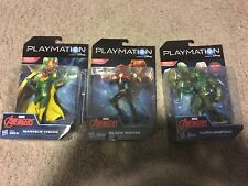 Lot of 3: Playmation Marvel Avengers Vision,Black Widow,Adaptoid Figures (NEW)
