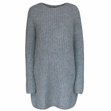 COS alpaca and wool chunky knit casual soft gray sweater jumper mini dress M NEW