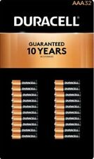 32 Count DURACELL AAA Alkaline Batteries MN24TB32 1.5 V Coppertop exp 2029