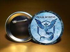 "Pokemon GO Team Mystic Button - 3"" Round Badge - Pin Back Button - FREE SHIPPING"