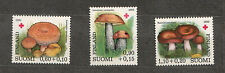 FINLAND  1980 -Scott B221-223** - Edible Mushrooms  (Grzyby, Pilze, Champignons)