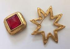 2 Tres Jolies Broches/pendant Signée Lancôme