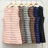Womens Winter Ultralight duck Down vest Sleeveless Waistcoat Jacket Puffer Coat