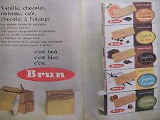 PUBLICITÉ DE PRESSE 1962 BRUN GAUFRETTES VANILLE NOISETTE CHOCOLAT - ADVERTISING