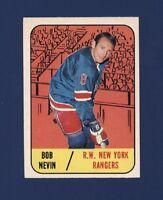 1967-68 Topps BOB NEVIN #28 NRMT New York Rangers !!
