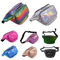 Shiny Retro Fanny Pack Rave Festival Hologram Waist Bum Bag Crossbody Hip Pouch