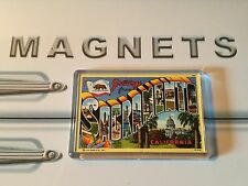 Greetings From Sacramento Fridge Magnet. Vintage Postcard Style Art. California