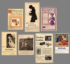 Extensive Collection KODAK ADS 1886-1923 $8 FREE SHIP