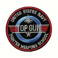 1 Écusson Brodé Thermocollant NEUF ( Patch ) - Top Gun Avion Airplane ( Ref 2 )