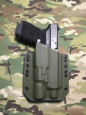 OD Green Kydex Holster for Glock 19 23 32 Threaded Barrel Surefire X300 Ultra A
