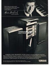 1982 Yamaha Concert System Components Stereo Hi-Fi Marvin Hamlisch Vtg Print Ad