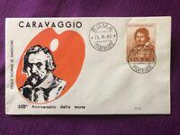 """FDC Italia Repubblica 1960 """"350° della Morte di Michelangelo Merisi Caravaggio"""""""