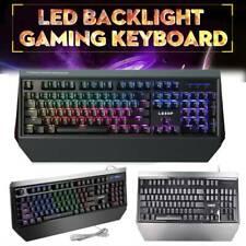 LESHP 104 Keys LED Backlight Wired Mechanical Gaming Compact RGB Keyboard USSHIP