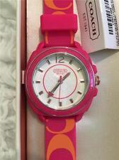 NWT: COACH 14501465 Womens Boyfriend Rubber Silicon Strap Watch: PINK