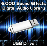 OVER 6000 ROYALTY FREE DIGITAL AUDIO SOUND EFFECTS LIBRARY MP3 USB DRIVE