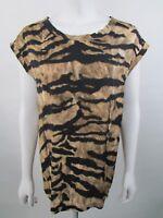 Dolce & Gabbana Size 42IT UK10 Animal Print Silk Blouse Top