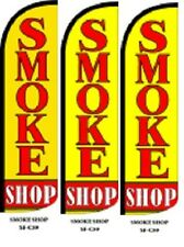 Smoke Shop King Size Windless 38 x 138 in Polyester Swooper Flag Pk of 3