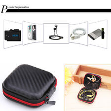 Square EVA Carrying Case Headset Earphone Headphone Earbud Cable Storage Bog Box