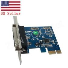 PCI-E Express DB25 Parallel LPT Printer Port Card WCH CH382L Chipset US Stock