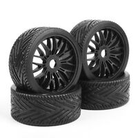4Pcs 1:8 Flat Rally Racing Tires Rims For HSP HPI Off Road Buggy Traxxas RC Car