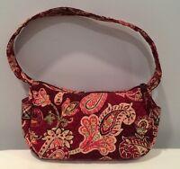"EUC Vera Bradley Handbag 10"" Piccadilly Plum Super Clean In & Out!"