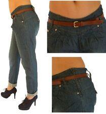 Hosengröße 38 Damen-Jeans aus Denim mit mittlerer Bundhöhe