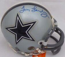 Tom Landry Autographed Signed Dallas Cowboys Mini Helmet Beckett H10817
