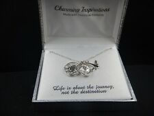 NWT CHARMING INSPIRATIONS SWAROVSKI CRYSTAL Necklace life is about the journey..