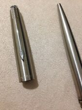 VINTAGE PARKER 45 FLIGHTER CHROME TRIM BALLPOINT PEN -ENGLAND-BLUE INK.