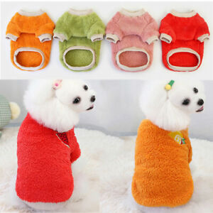 Cute Pet Fleece Clothes Dog Sweater Fruit Printing Pullover Dogs Pets Clothing