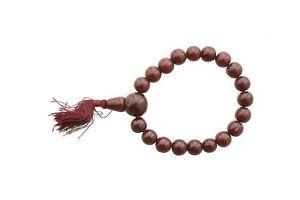 Mala Braccialetto Tibetano Perle IN di Resina Rosso Bordeaux 10 MM CLO4 7683