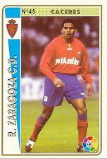 N°045 CACERES ARGENTINA REAL ZARAGOZA OFFICIAL TRADING CARD MUDICROMO LIGA 1995