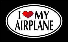 "5.75""I LOVE MY AIRPLANE vinyl decal sticker... Plane"