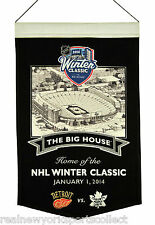2014 NHL WINTER CLASSIC RED WINGS VS. MAPLE LEAFS BIG HOUSE STADIUM BANNER