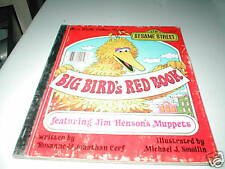 CTW 1977 SESAME STREET BIG BIRD'S RED BOOK JIM HENSON'S