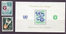 Liberia # 407 & C149-50 MNH Complete FAO Hunger Food