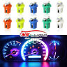 10x T5 B8.5D 5050 1SMD Car LED Dashboard Dash Gauge Instrument Light Bulbs 12V