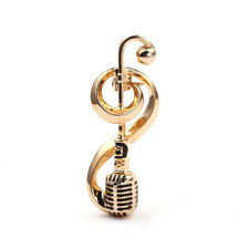 Pins Women Corsage Hat Jewelry Gyjus Antique Mic 00004000 rophone Music Note Brooch Collar