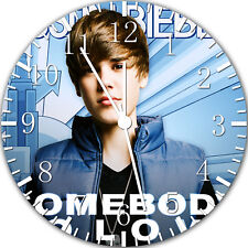Young Justin Bieber Frameless Borderless Wall Clock Nice For Gifts or Decor Y82
