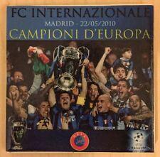 """Calcio- Inter """"Triplete"""" mattonella con stampa della premiazione Champions 2010"""