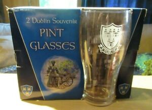 2 Dublin Souvenir Pint Glasses