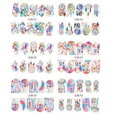 12 Patterns/Sheet Nail Art Water Decal Dreamcatcher Transfer Sticker Manicure