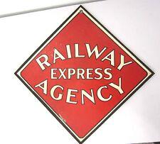 Vintage Railway Express Agency Call Card Sign Cardboard Original REA Railroad