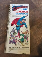 Vintage 1979 Superman  Mix Or Match Storybook, RARE Random House Ross Andru