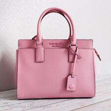 Kate Spade Cameron Leather Medium Satchel Crossbody Shoulder Bag Pink