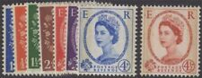 Great Britain Qeii 1959 Phosphor Graphites Set of 8 Sg599-609 Never Hinged cv£85