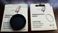 2 Kaiser Lens Caps made in Germany  39mm Diameter. New in Box Slip-on type