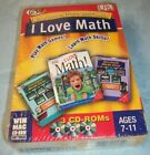 I Love Math Learning Power Pack (2003 Win/Mac 3-CD-ROMs) Ages 7-11 New Unopened!
